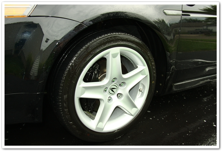 Wheels completely detailed after an Esoteric Auto Detail