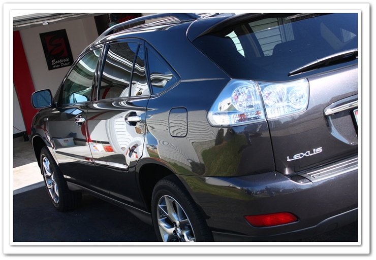 Lexus paint polished with Optimum Poli-Seal and Porter Cable