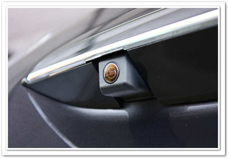Lexus RX350 backup camera lens after being detailed
