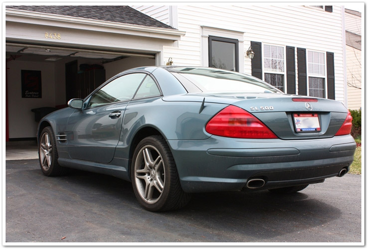 Before detailing a Mercedes SL500