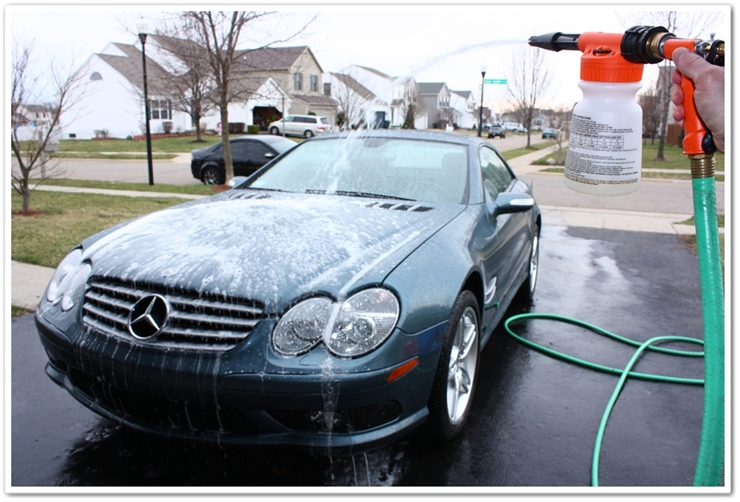 Gilmour foam gun used on Mercedes SL500