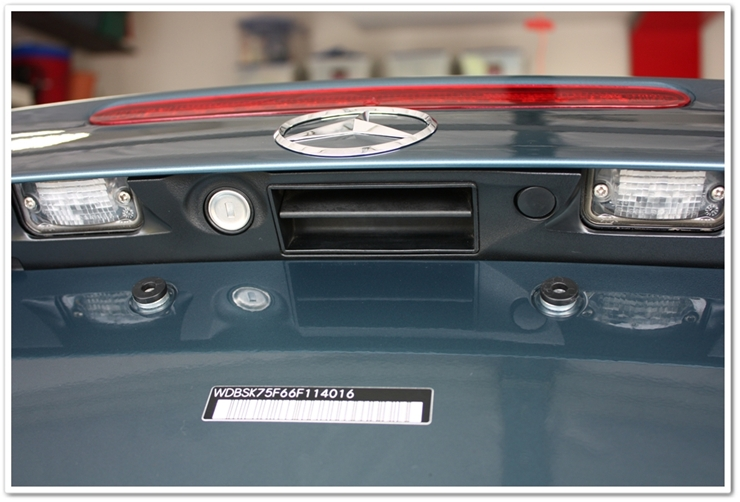 After detailing underside of Mercedes SL500 trunk lid