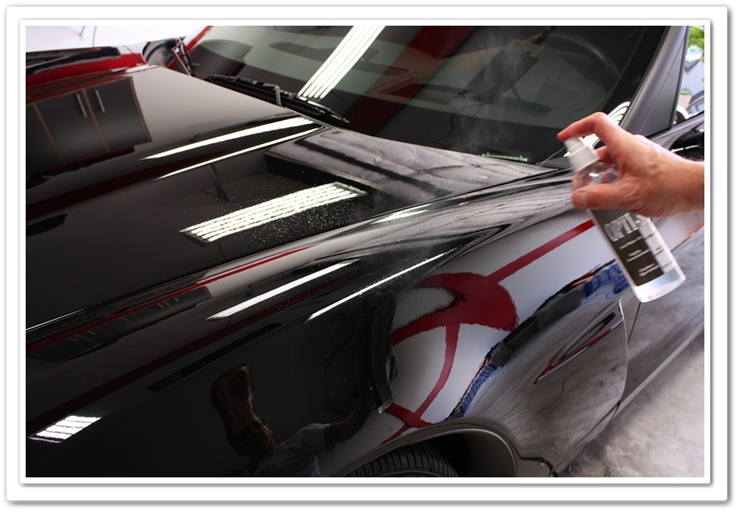 Applying OPT Opti-Seal to a 2008 black Z06 Chevy Corvette
