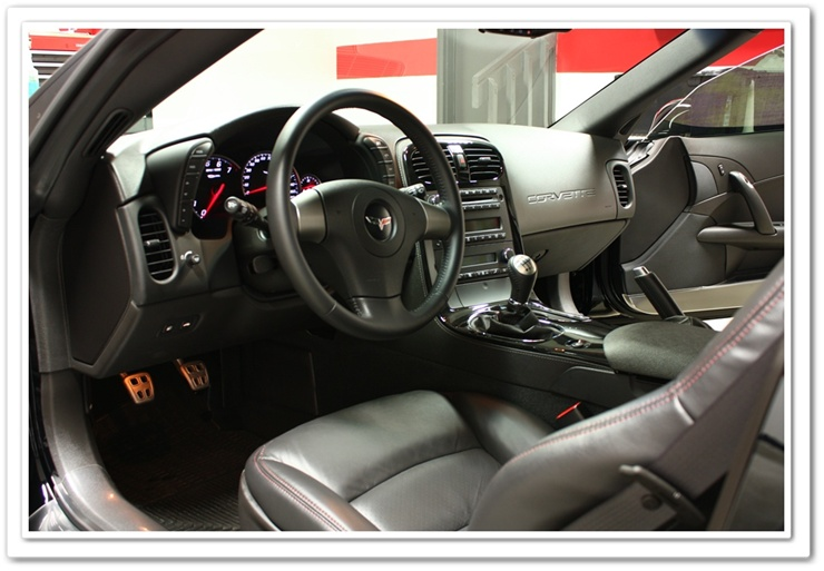 2008 Chevy Z06 Corvette interior detailed by Esoteric Detail