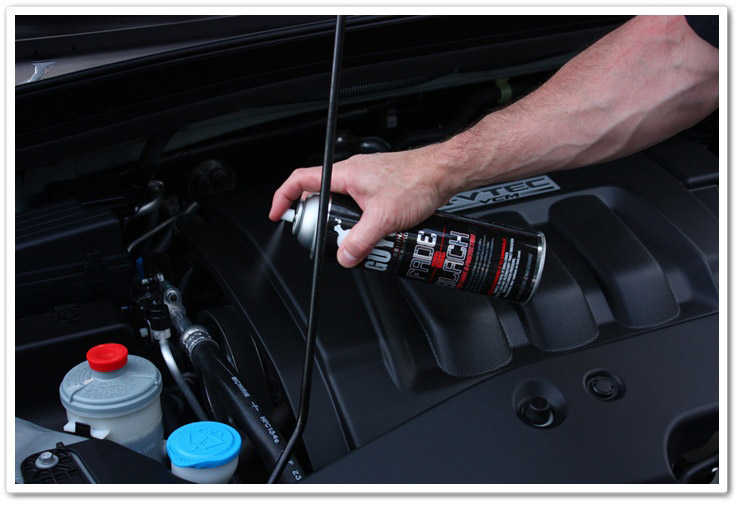 Dressing and protecting your engine bay with Chemical Guys Fade 2 Black
