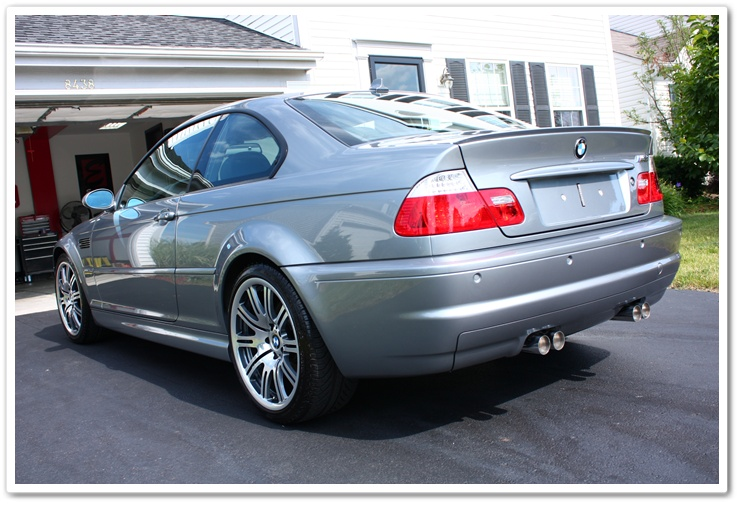 BMW M3 exhaust tips polished after an Esoteric Auto Detail