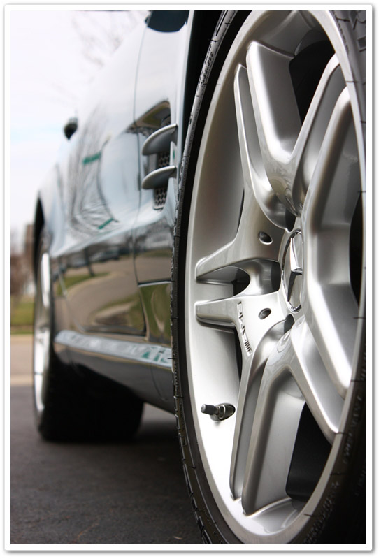 Finished and cleaned AMG Mercedes wheel photo