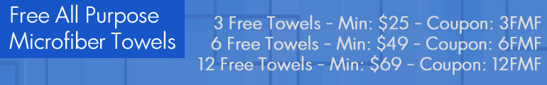 Free All Purpose Towels - 3 Free Towels Coupon: 3FMF Min: $25 - 6 Free Towels Coupon: 6FMF Min: $49 -12 Free Towels Coupon: 12FMF Min: $69