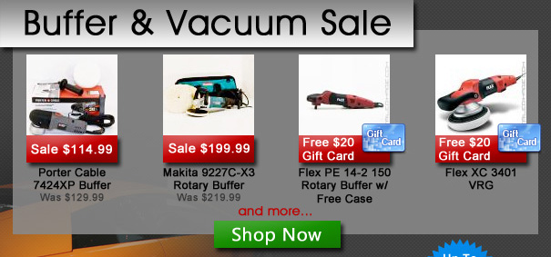 Buffer and Vacuum Sale