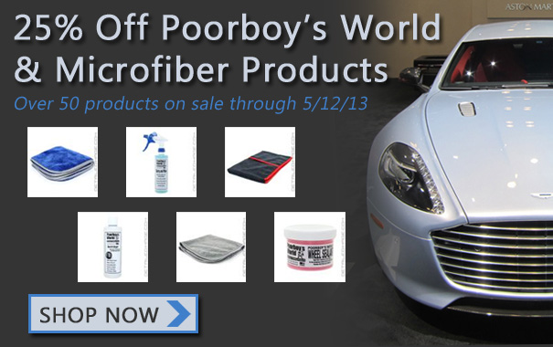 25% Off Poorboy's World and Microfiber Products
