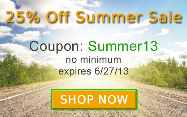 25% Off Summer Sale - Coupon Code Summer13