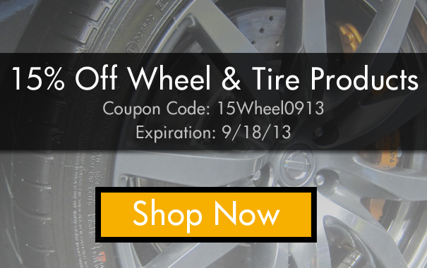 15% Off Wheel and Tire Products - Coupon: 15Wheel0913