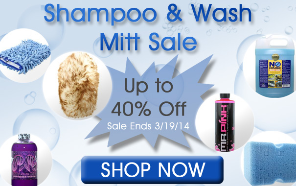 Shampoo and Wash Mitt Sale Up To 40% Off