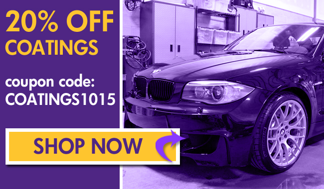 20% Off Coatings and More! Coupon Code: Coatings1015 - Shop Now