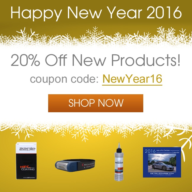 Happy New Year 2016 - 20% Off New Products - Coupon Code NewYear16 - Shop Now