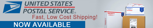 USPS Now Available! A fast, low cost shipping option