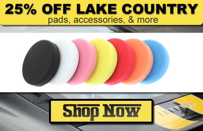 25% Off Lake Country Pads, Accessories, and More - Shop Now