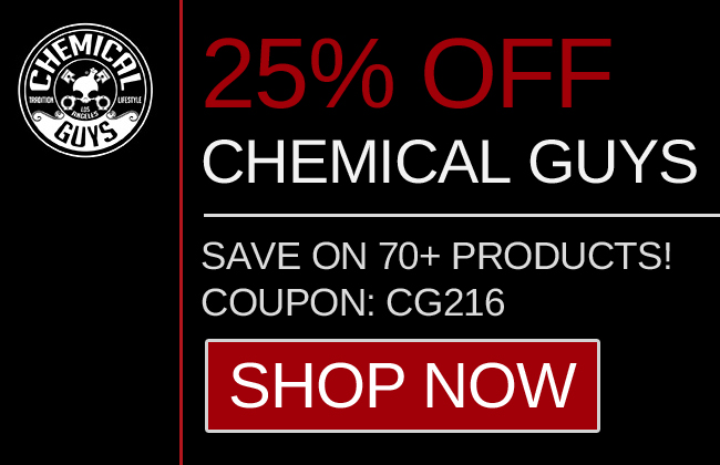 25% Off Chemical Guys - Save On 70+ Products - Shop Now