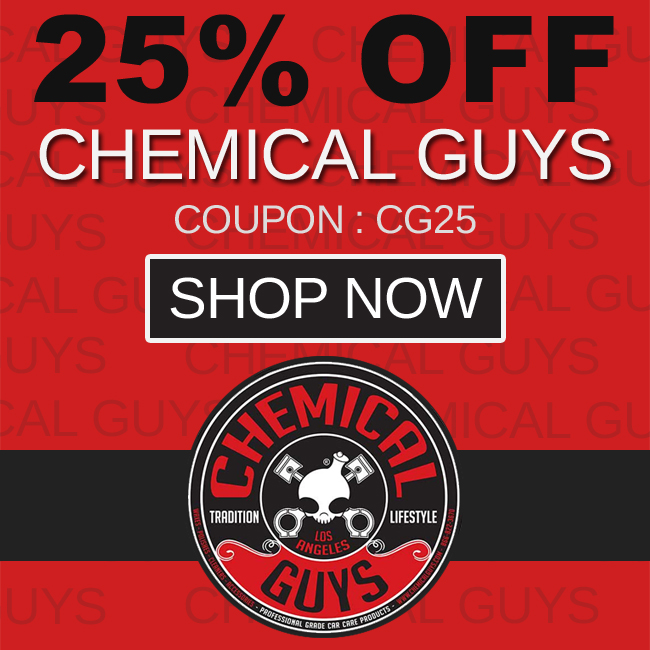 25% Off Chemical Guys - Coupon: CG25 - Shop Now