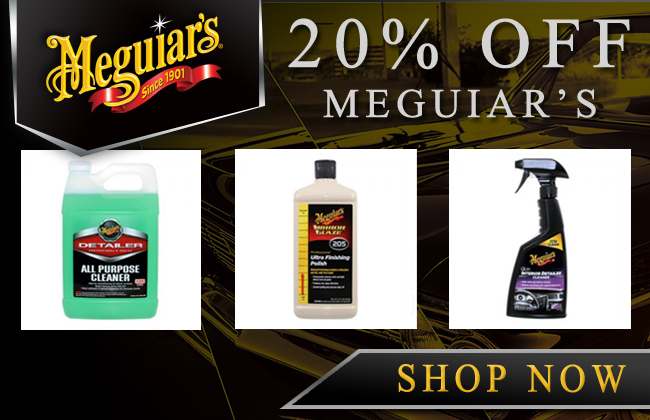 20% Off Meguiar's Products - Shop Now