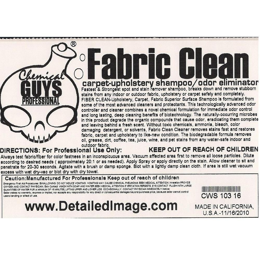 Chemical Guys Fabric Clean 16 Oz Free Shipping