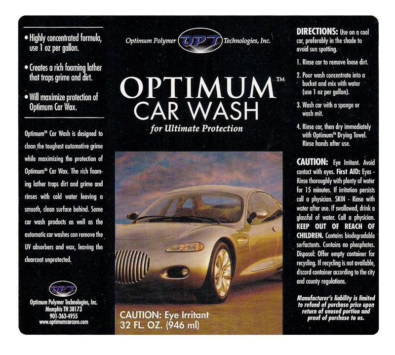 Where To Buy Optimum No Rinse Car Wash