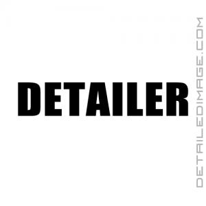DI Accessories Detailer Vinyl Die Cut Sticker - Black