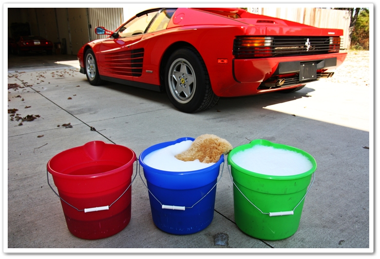 3 buckets for properly washing your car