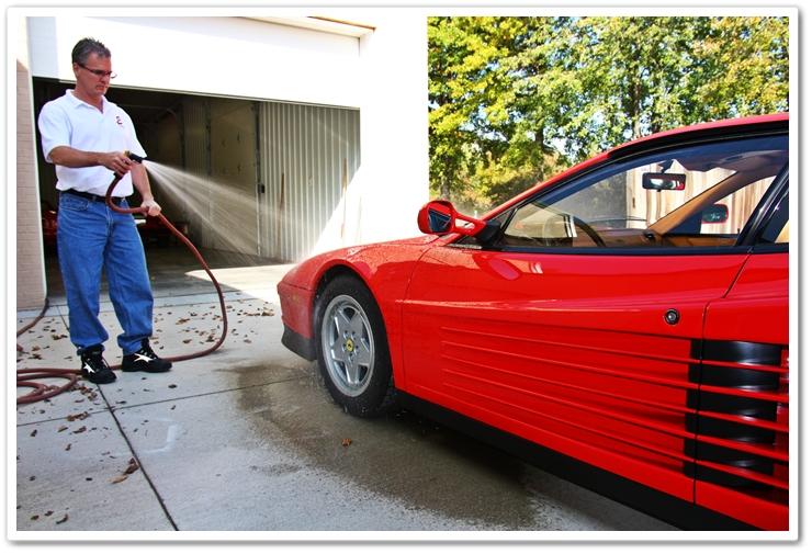Car wash pre-rinse