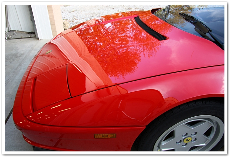 Finished Ferrari after proper washing and drying