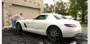 How To Detail a Brand New Car, featuring a Mercedes-Benz SLS AMG!