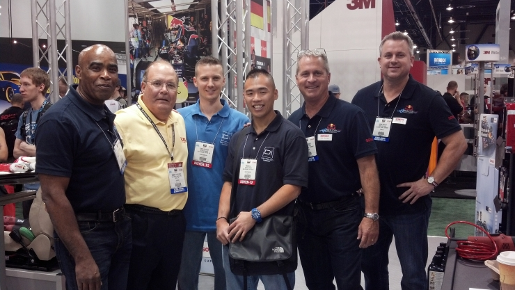 Detailed Image at the SONAX booth with Bob from Flex at SEMA Show 2012