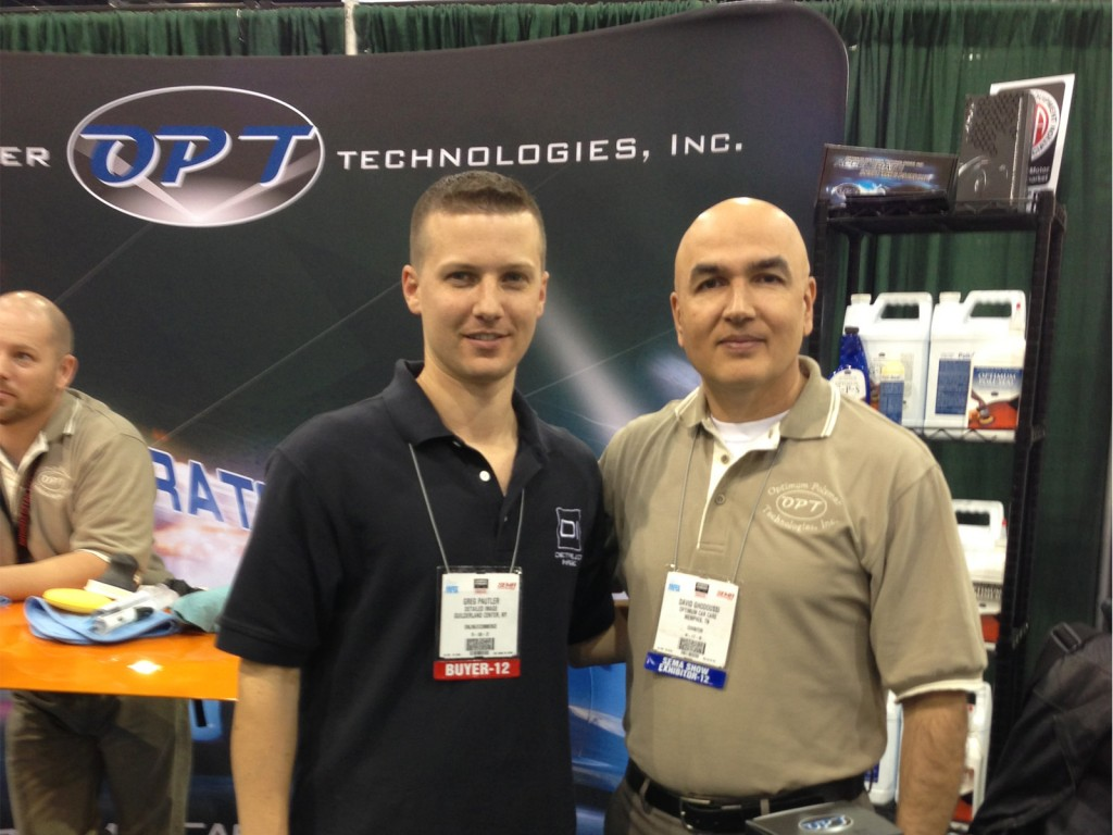 Detailed Image's Greg with Dr. G of Optimum - SEMA Show 2012
