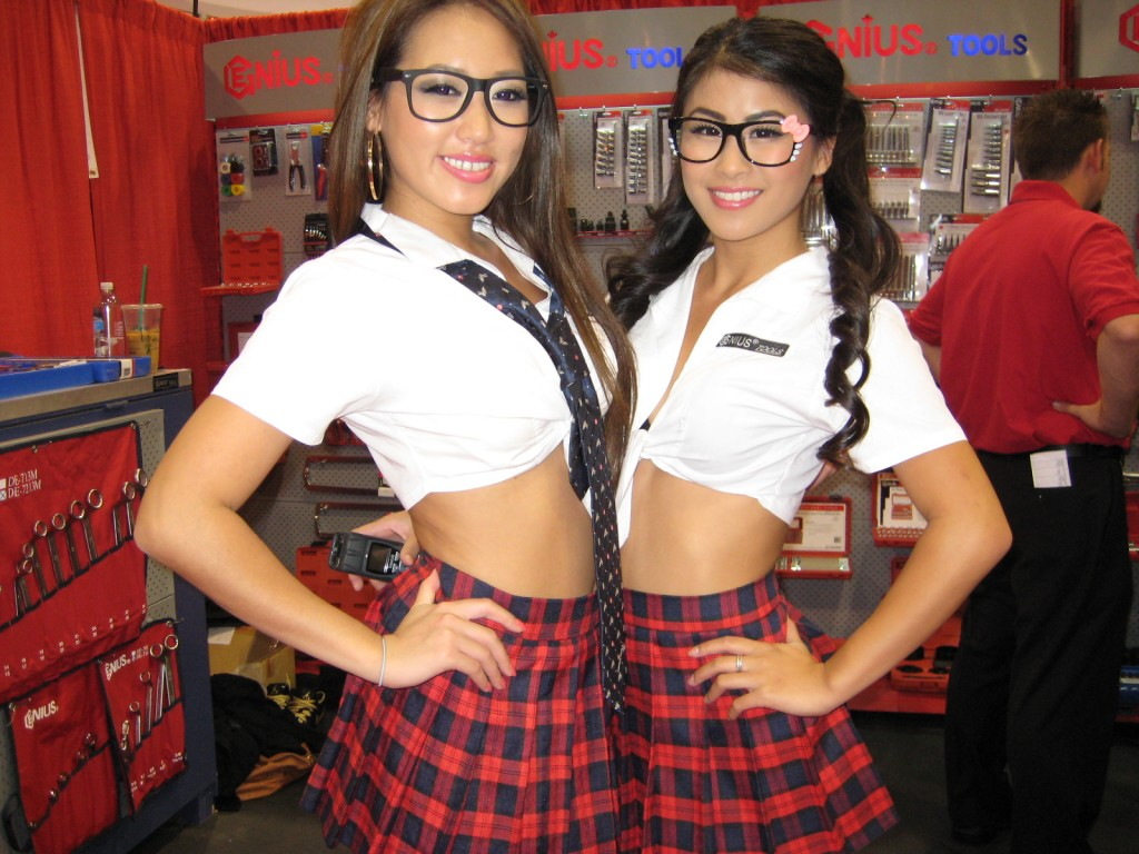 School Girls at SEMA Show 2012