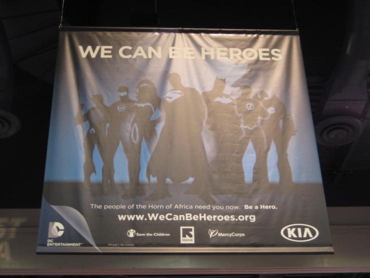 SEMA 2012 Kia DC Comics Justice League Banner