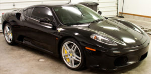Black Ferrari 430 Paint Correction