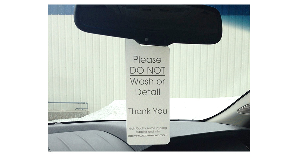 Not Wash Rear View Mirror Hang Tag