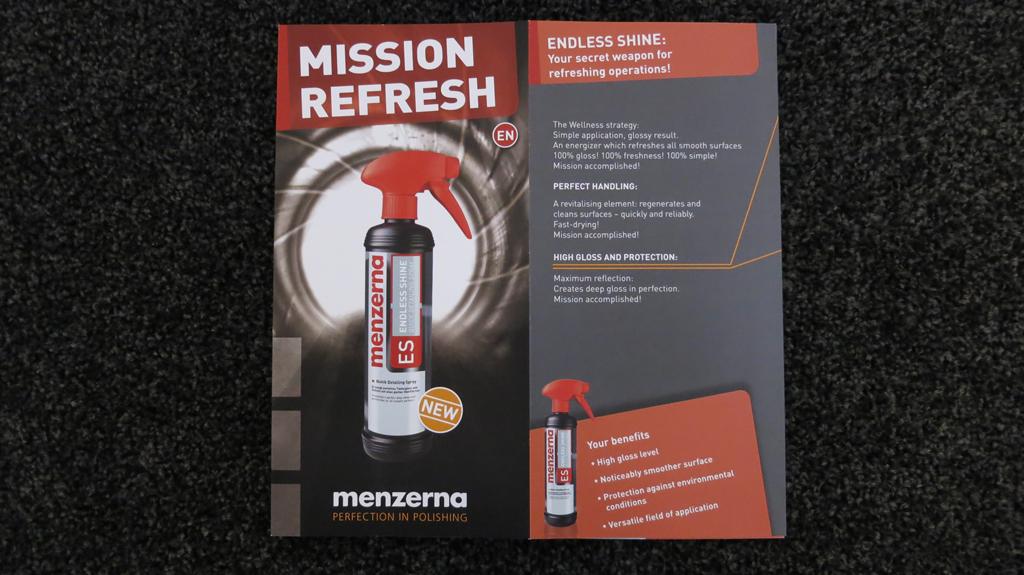 Menzerna ES Endless Shine – Quick Detailing Spray