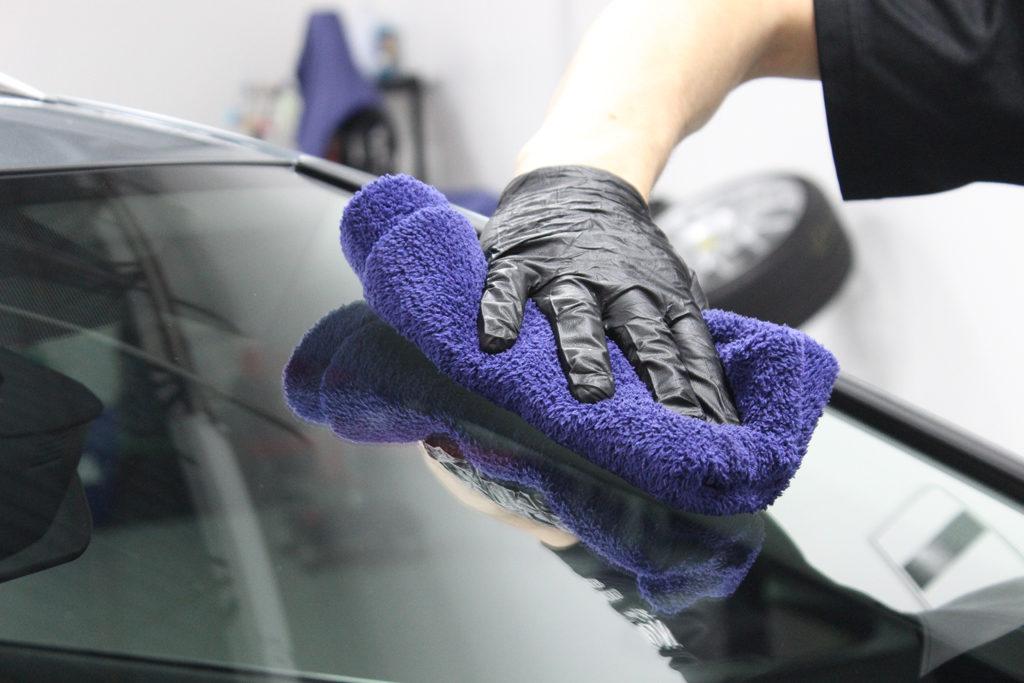 wipe Repel residue off with clean microfiber towel