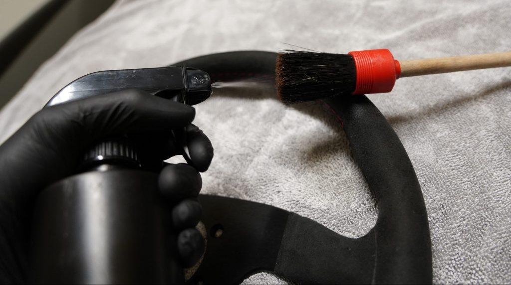 Interior Cleaner on Brush