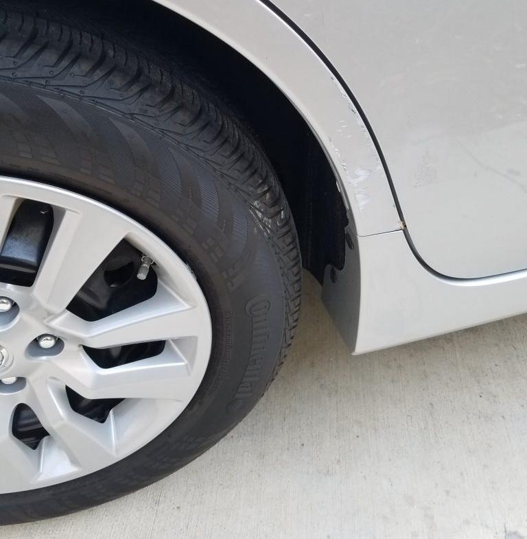 Auto body paint damage