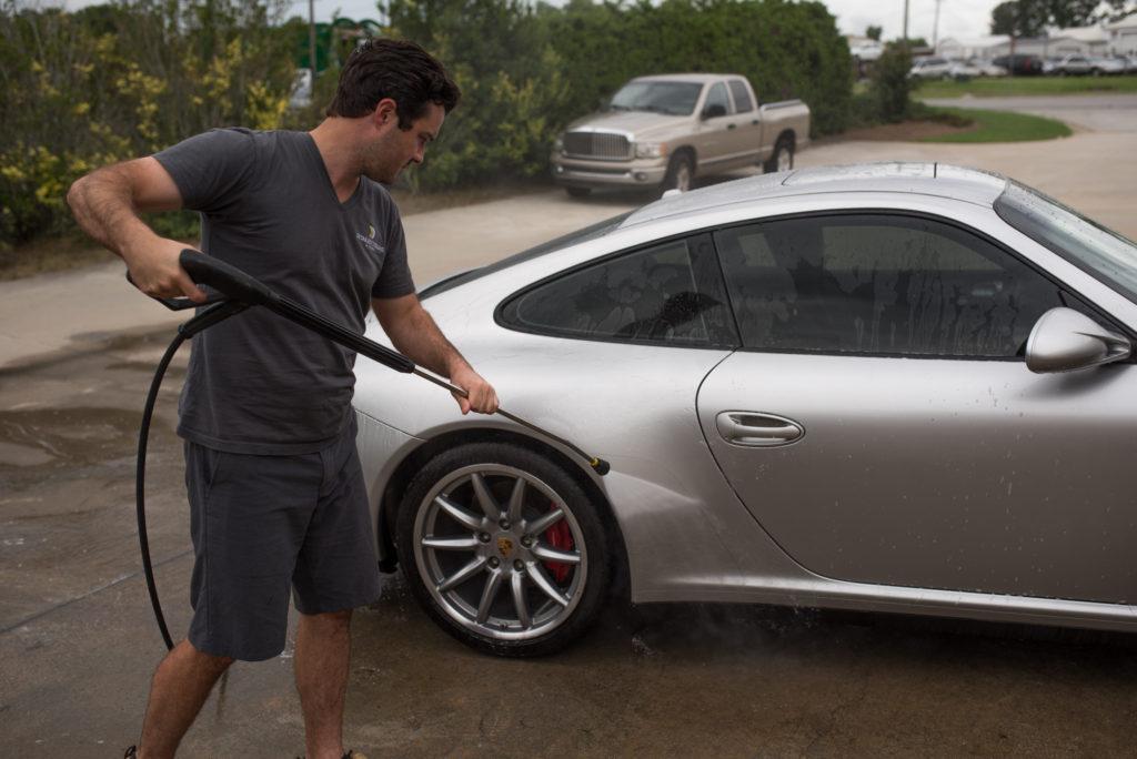 Porsche 911 paint wash