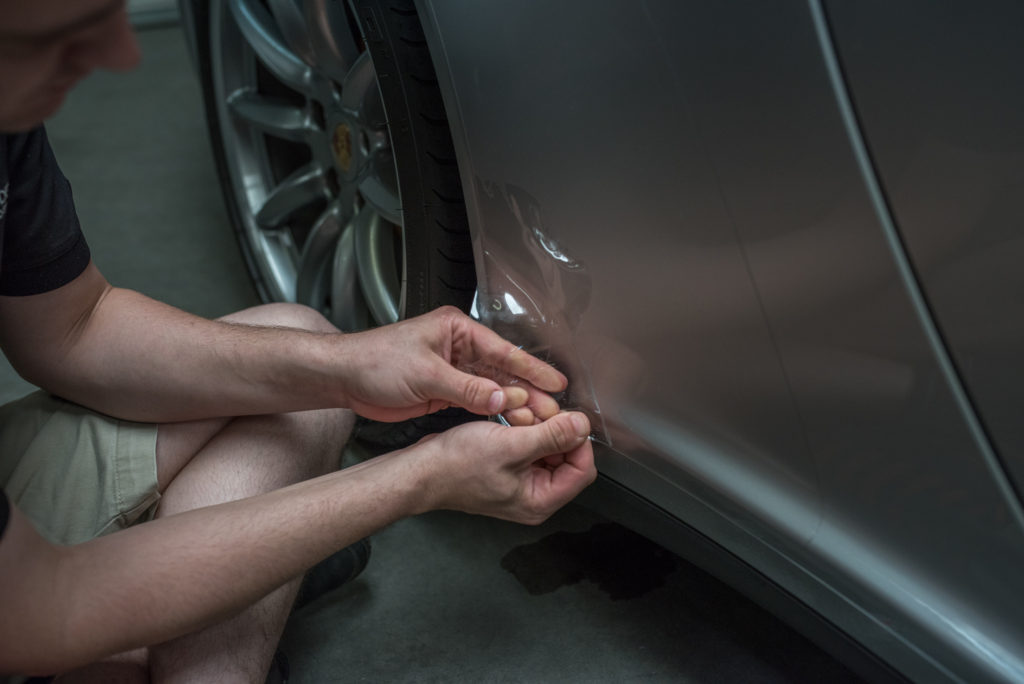 Porsche 911 clear bra removal