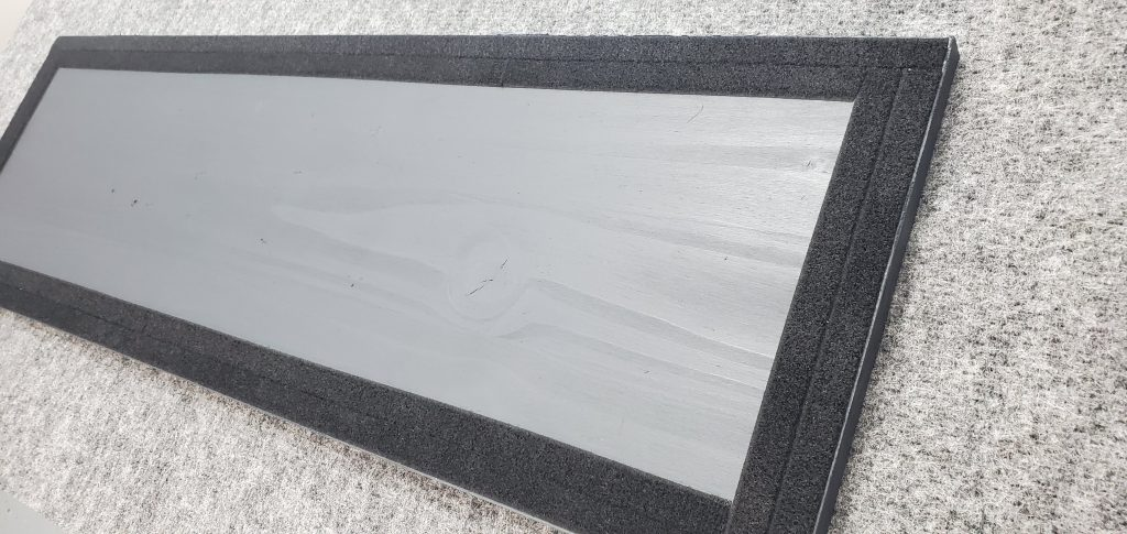 Loop velcro keeps the board from sliding or shifting during use