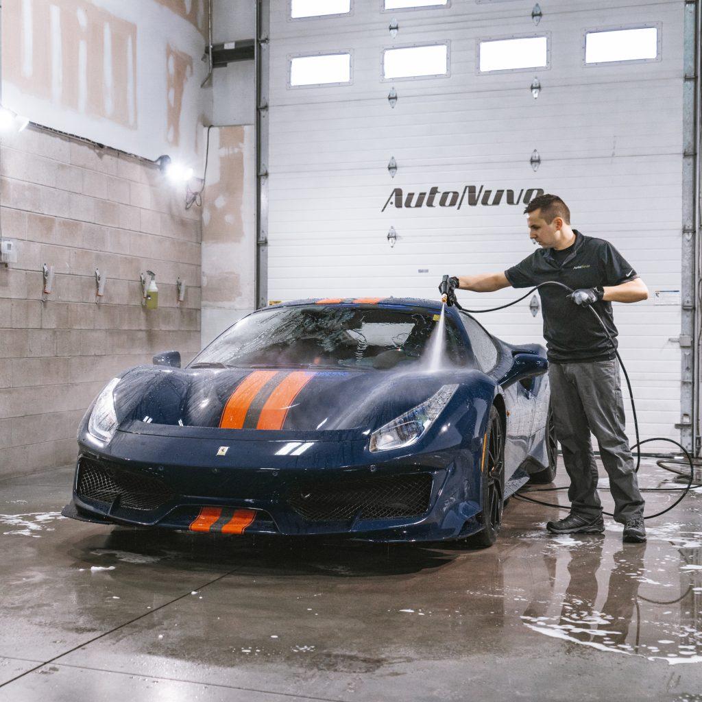 Ferrari Pista- initial rinse