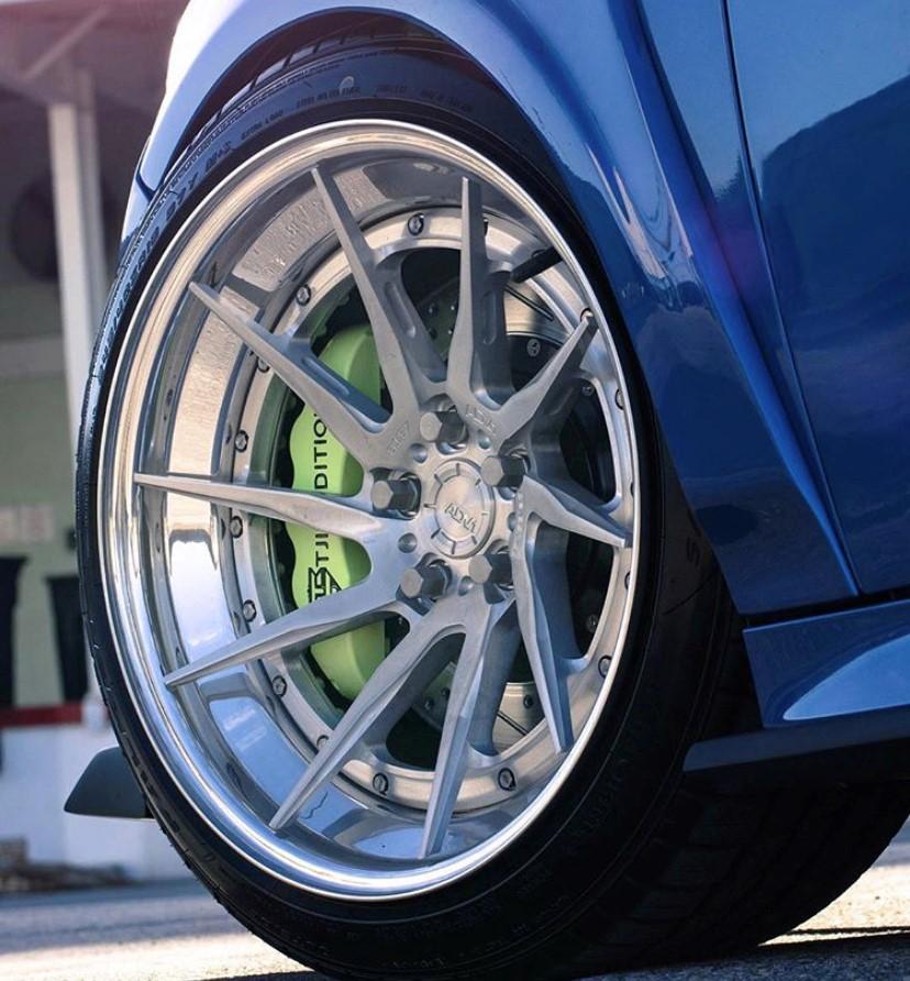 Polished wheel