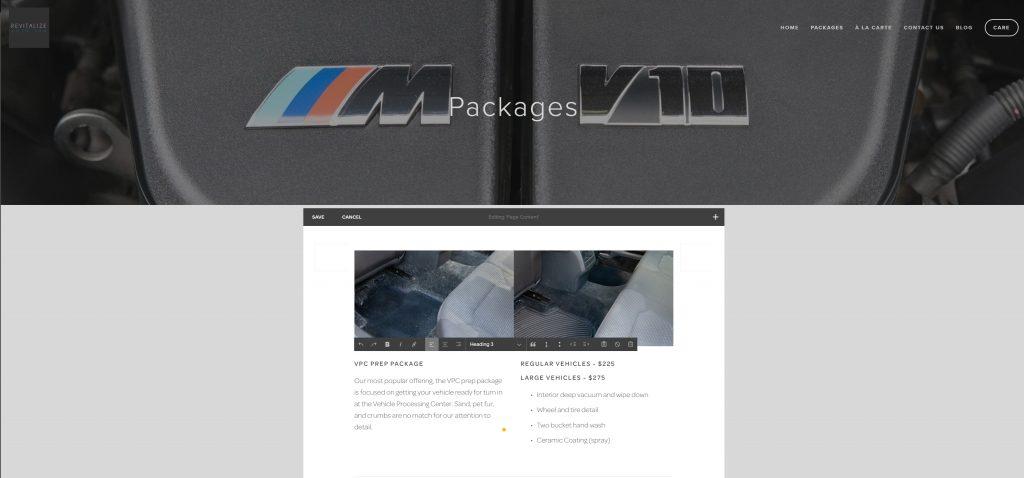Revitalize Website 2