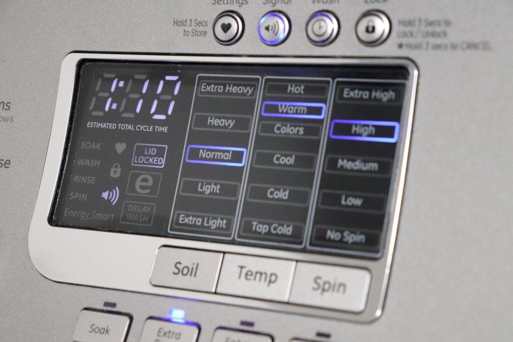 Washing machine settings