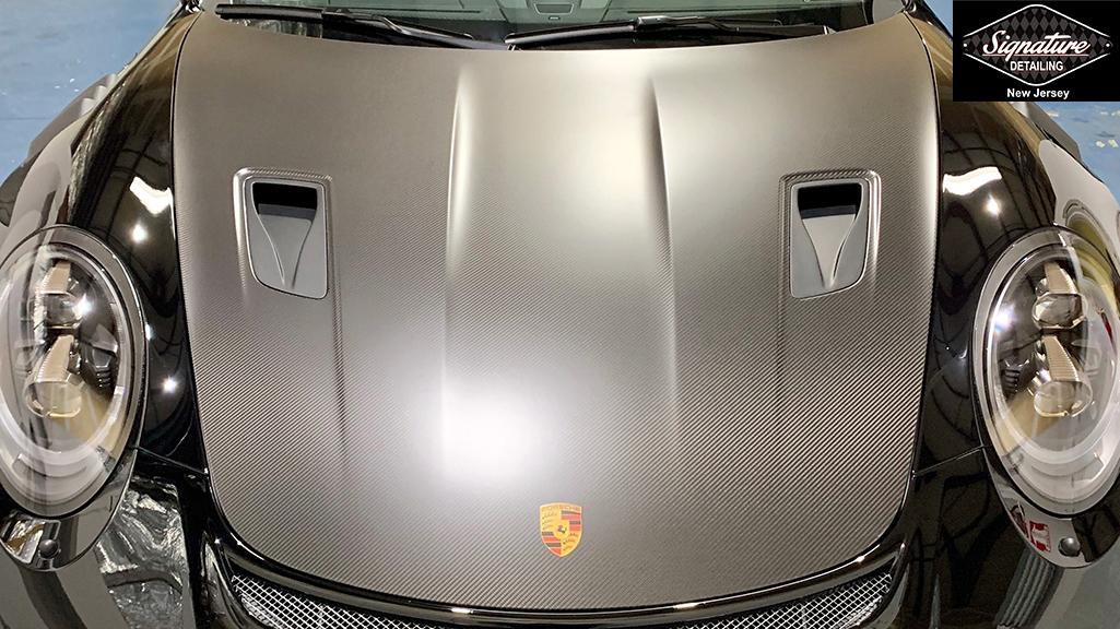 Porsche GT3RS - Matte PPF Installation on Hood - Signature Detailing NJ