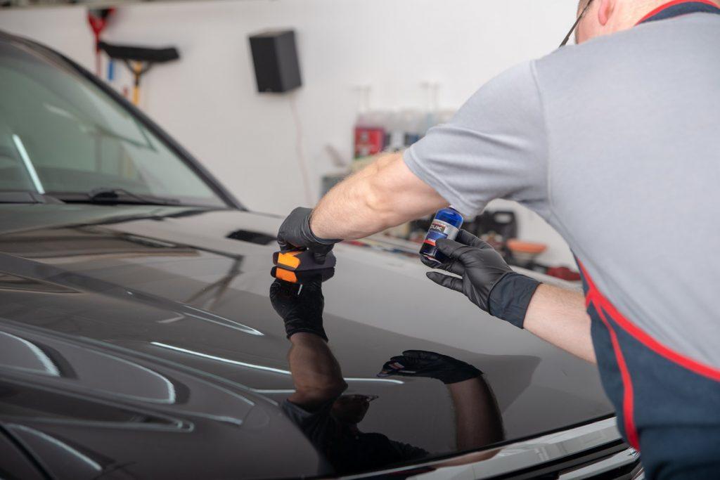 coating the vehicle